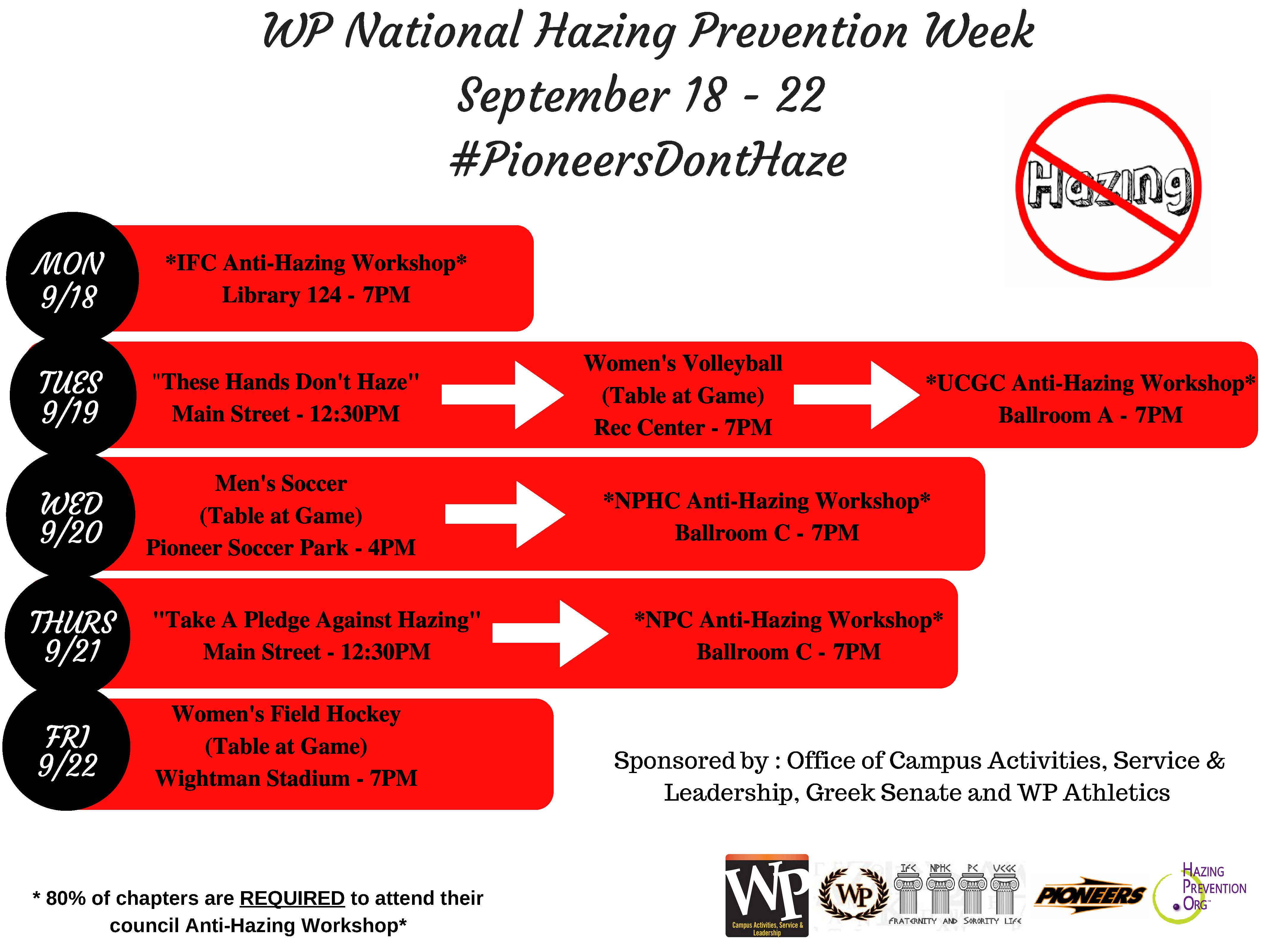 National Hazing Prevention Week 2017 - 2