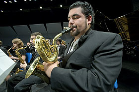 baritone sax player