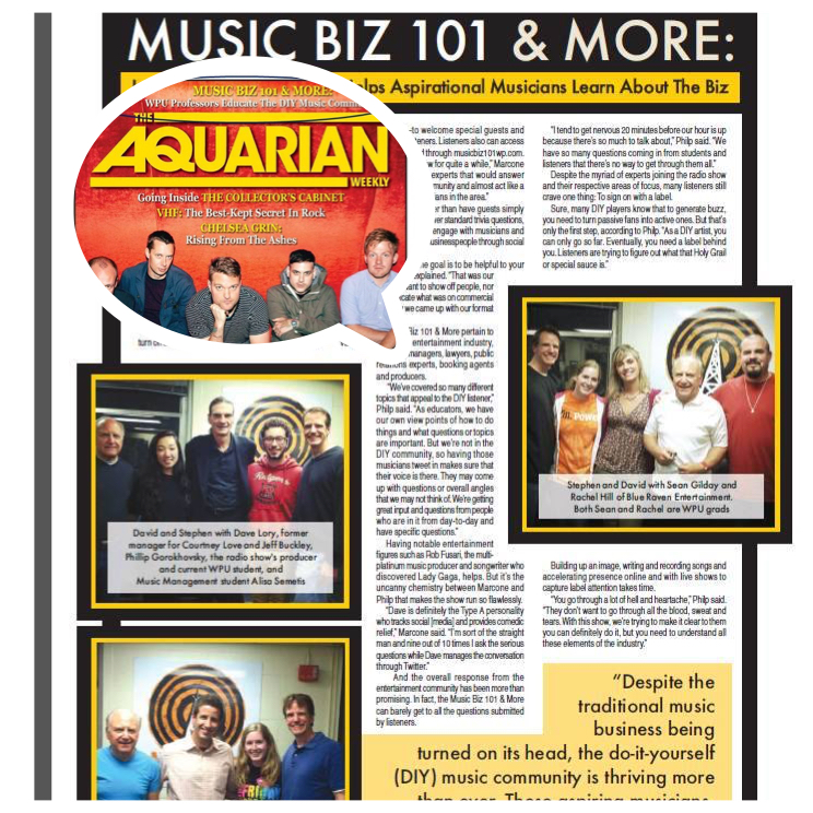 Aquarian Magazine Article