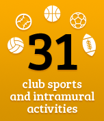 31 club sports and activities