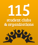 115 clubs and organizations
